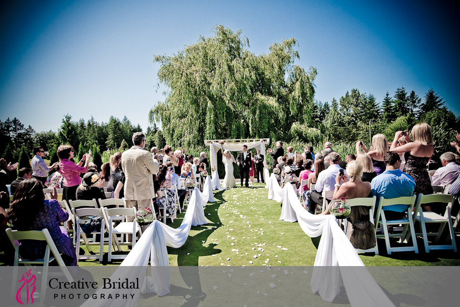 Caleigh Amp Ryan S Wedding Ceremony Langley Golf And Banquet Centre Location Pictures Fort
